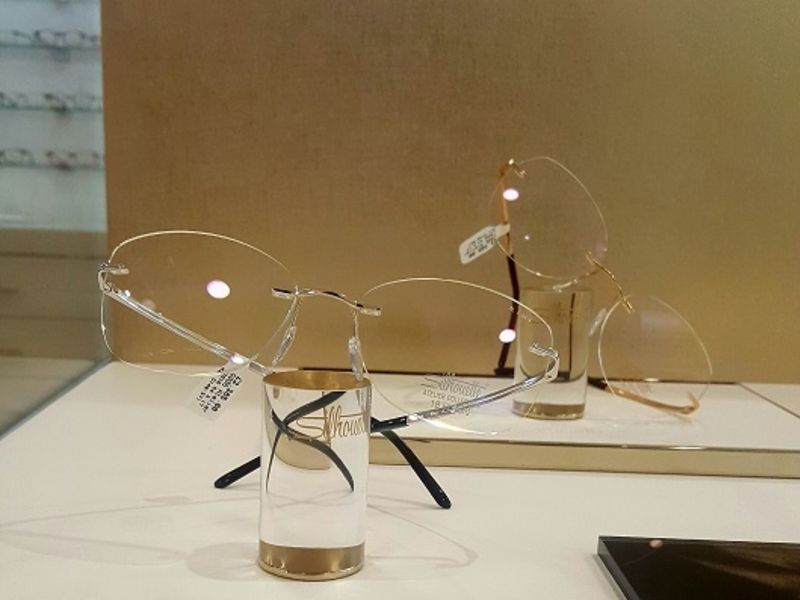 Two pairs of Silhouette glasses