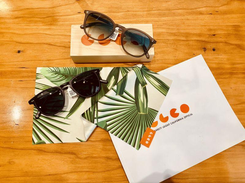 Garrett Leight sunglasses display layout