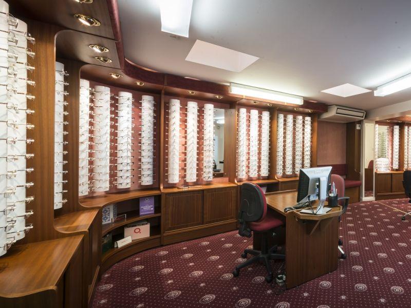 donovan smith opticians dispensing area