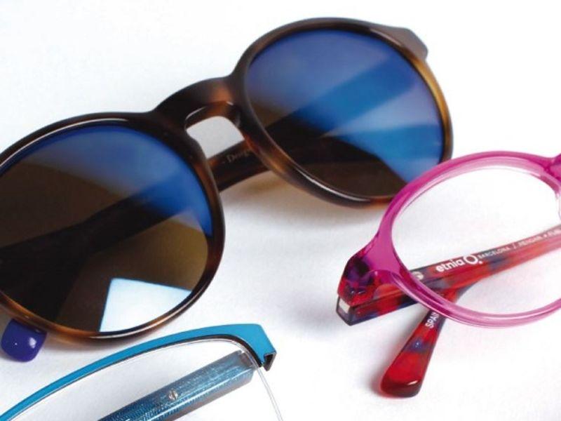 Sunglasses and glasses close up
