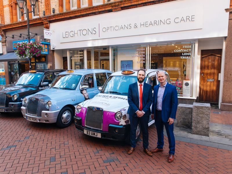 Leightons branded taxis and Ryan Leighton