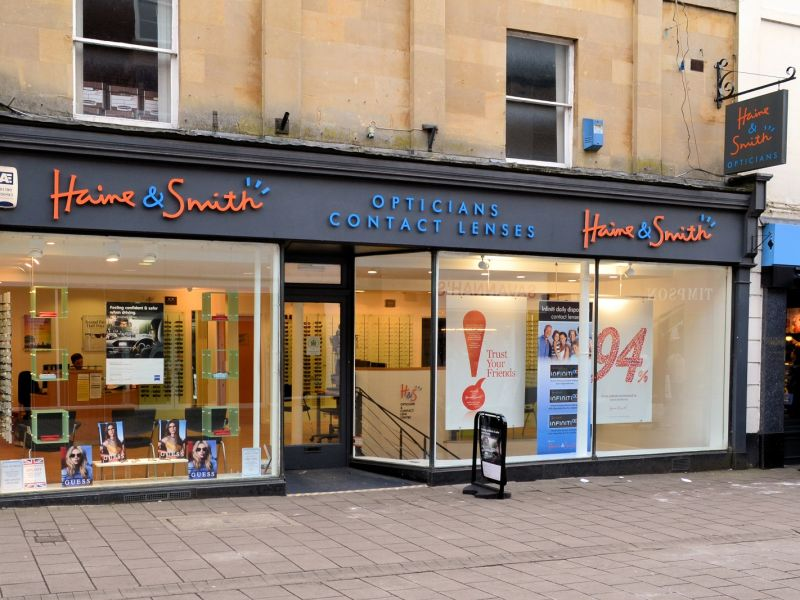 haine and smith opticians exterior