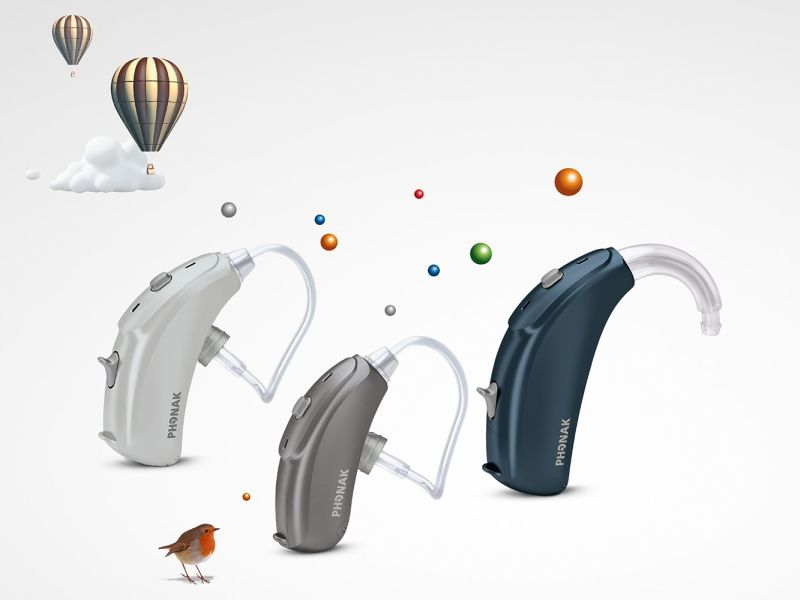 Phonak hearing aid in sky