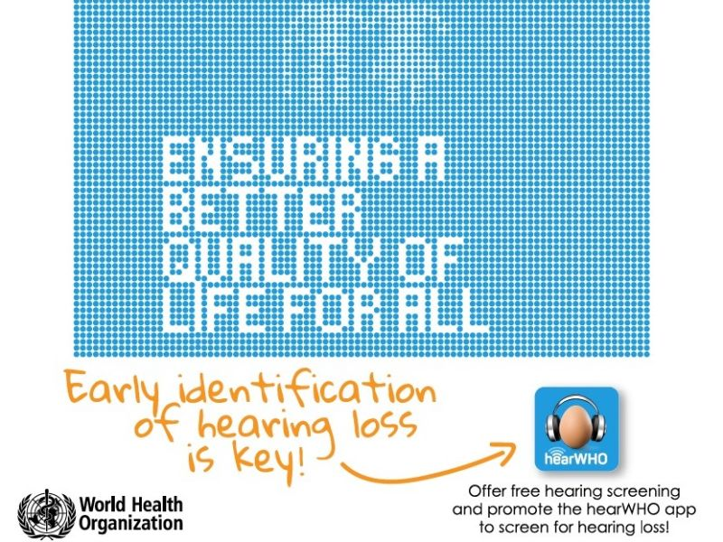 World Hearing Day hear WHO advertisement