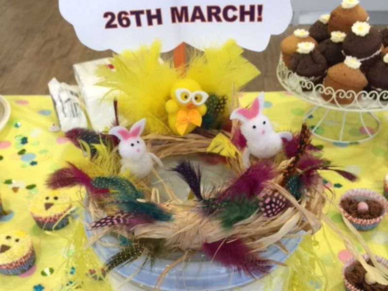 Easter reef at charity cake sale