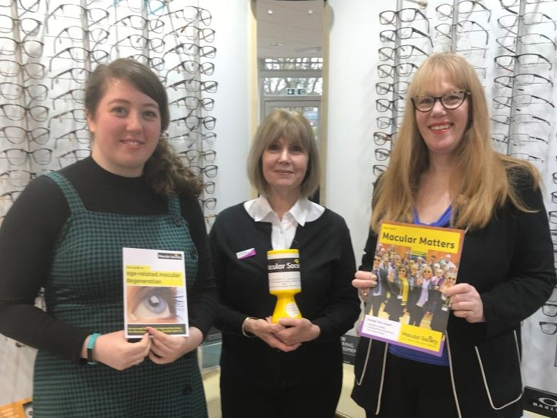 Leightons staff fundraising for Macular Society