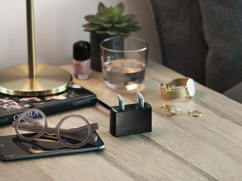 Accessories on a side table