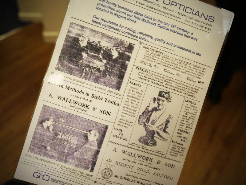 wallwork opticians old leaflet