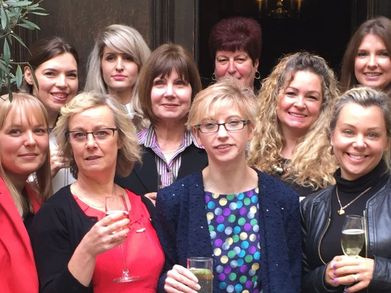 Leightons staff with prosecco
