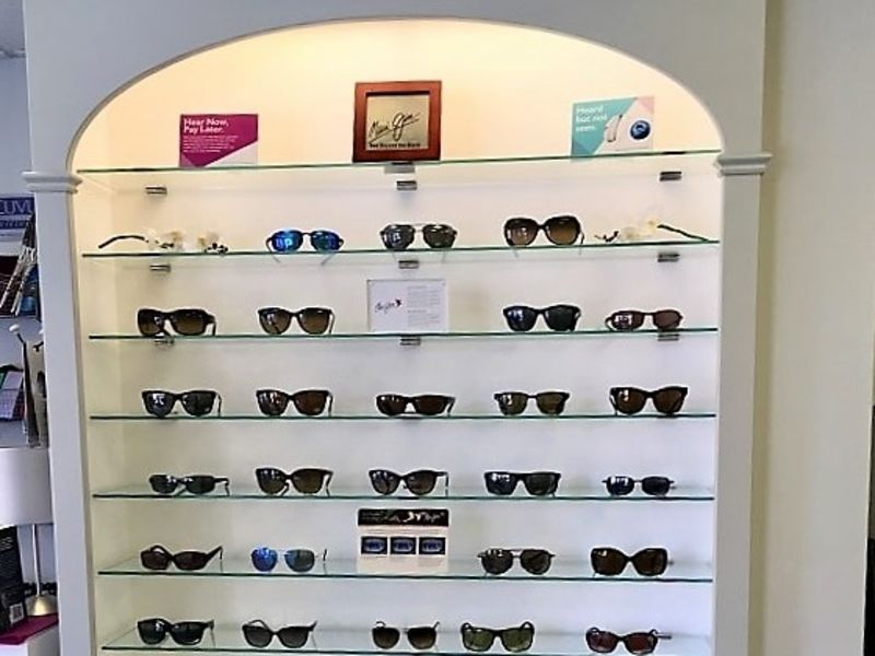 Sunglasses display in Leightons Totton store