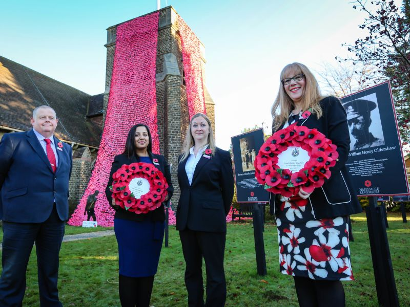 Leightons staff commemorate Remembrance Day