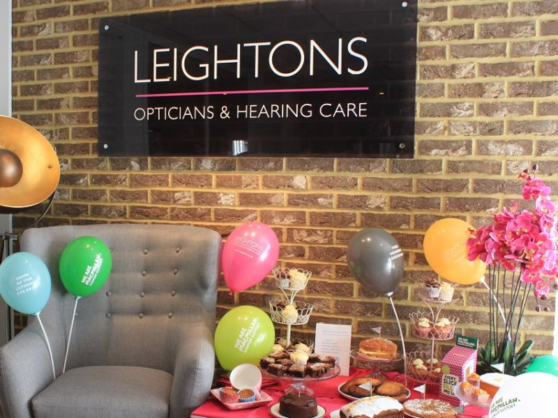 Leightons Macmillan coffee morning with balloons