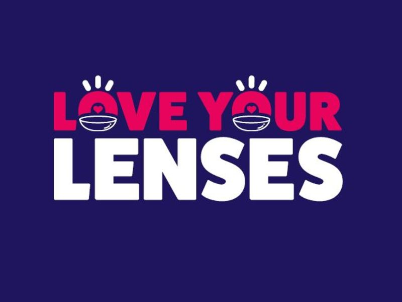 Love your lenses text