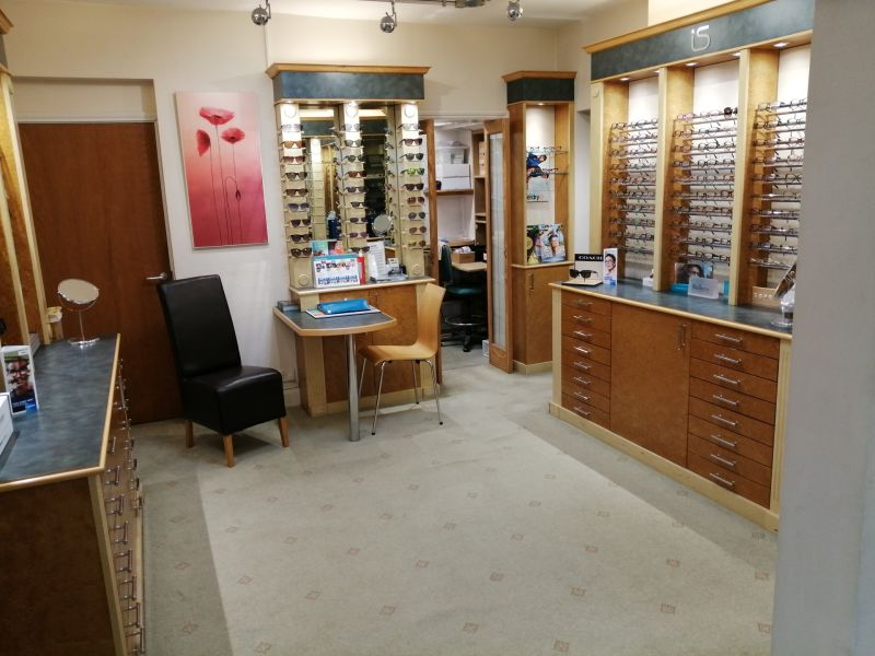 Inside of the Squire Opticians practice