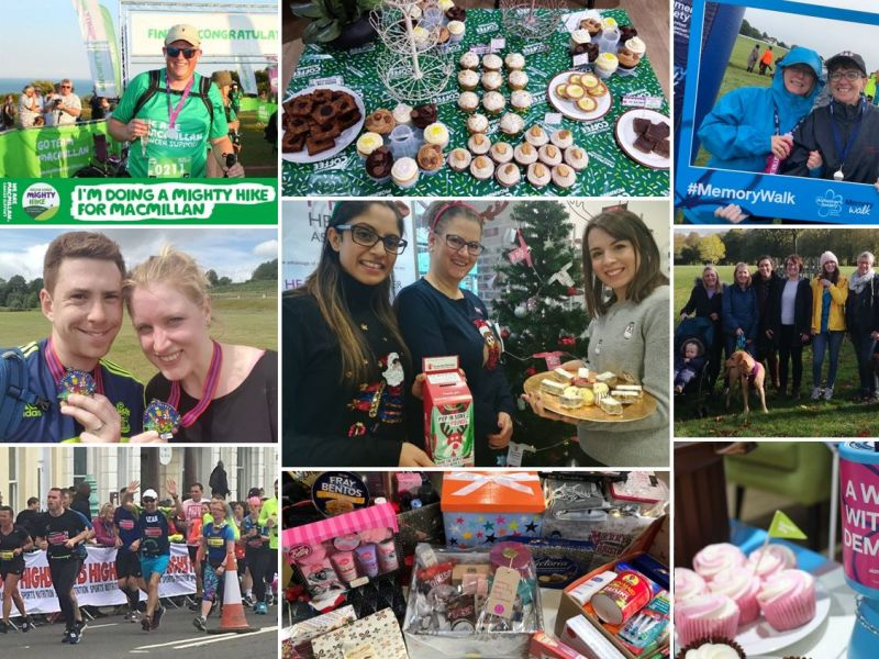 Collage of Leightons 2018 charity events