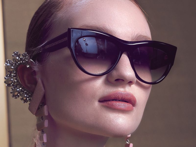 Model wearing Dita glasses