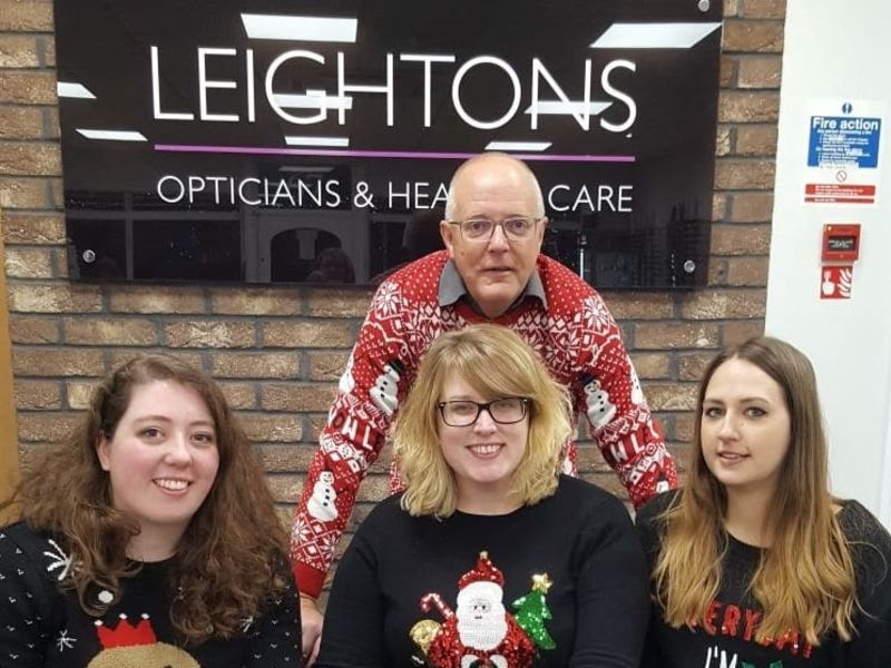 Leightons staff in Christmas jumpers