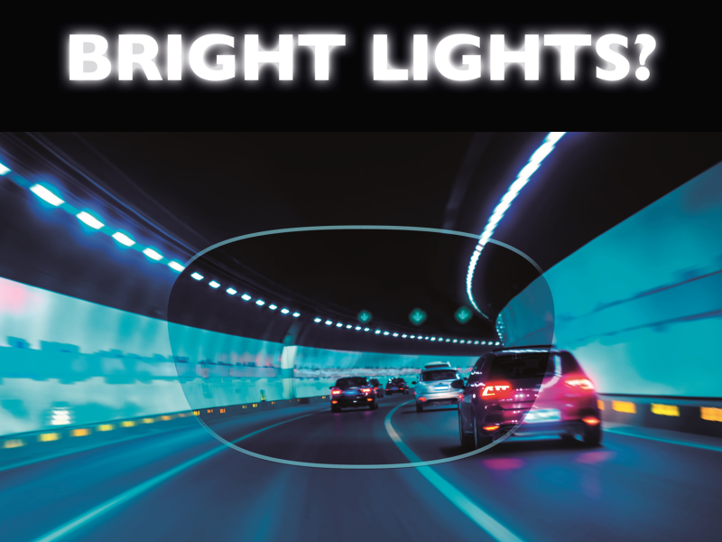 Bright lights? Text and cars in tunnel