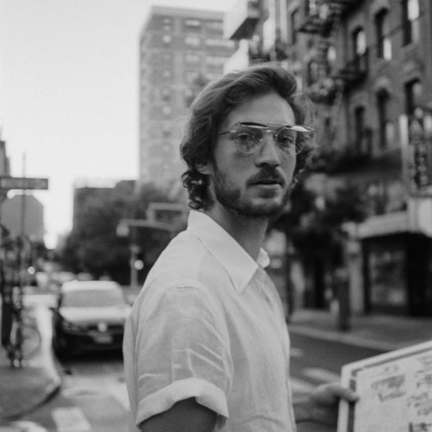 Jonathan Drey Record in Moscot glasses - Black and White