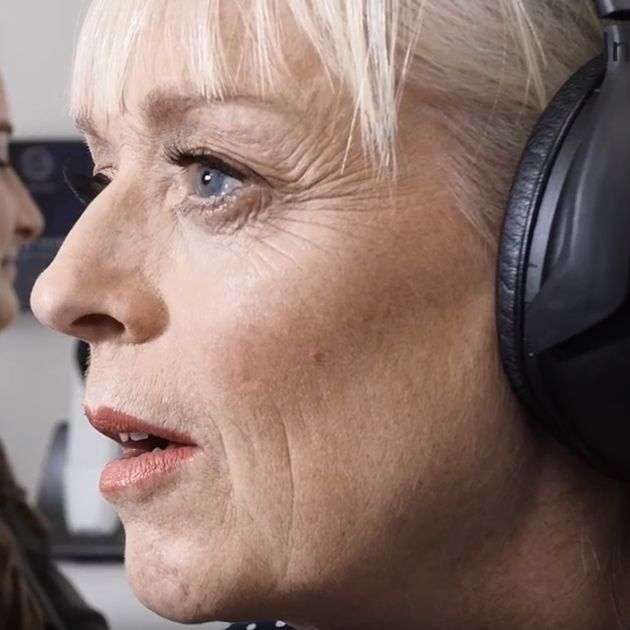 Woman having hearing test