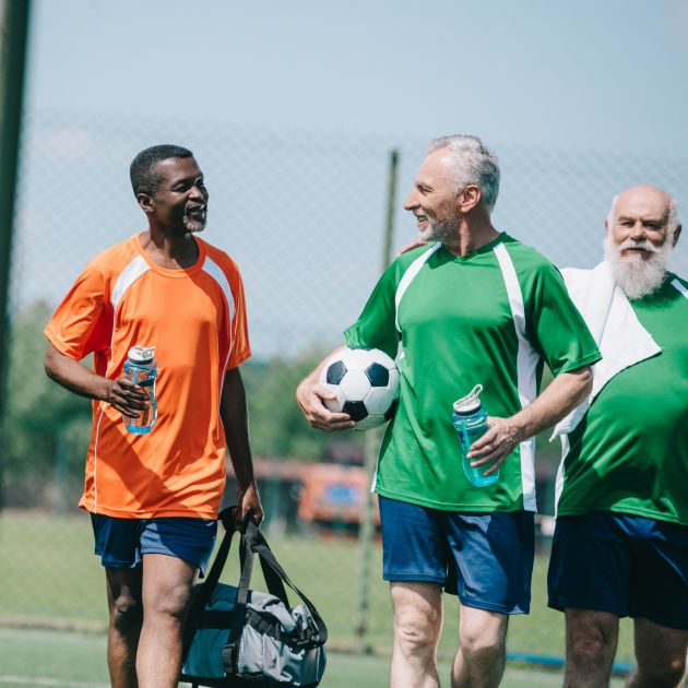 walking football club for the hard of hearing