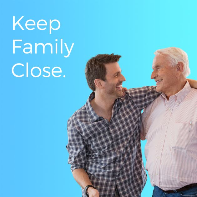 keep family close son and father together