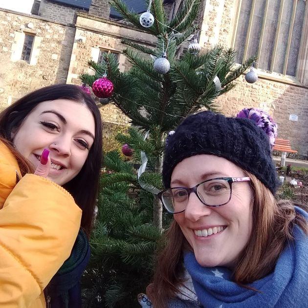 swindon team with christmas tree