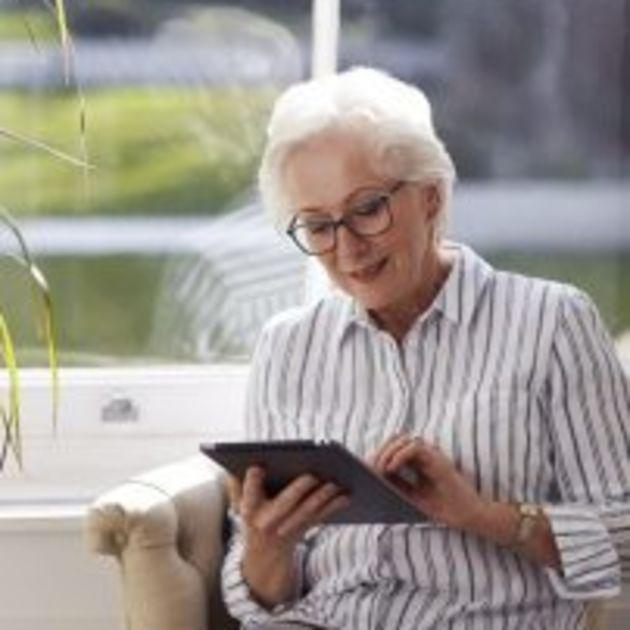 Lady on iPad
