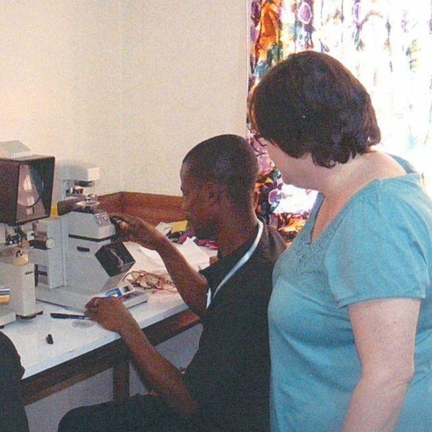Karen teaching the clinicians