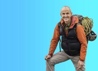 man hiking