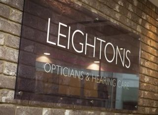 leightons opticians and hearing care sign