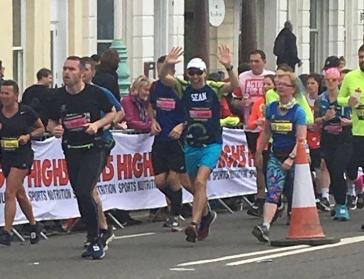 sean running marathon