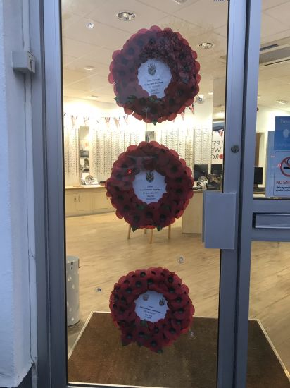 poppy wreaths in leightons haslemere