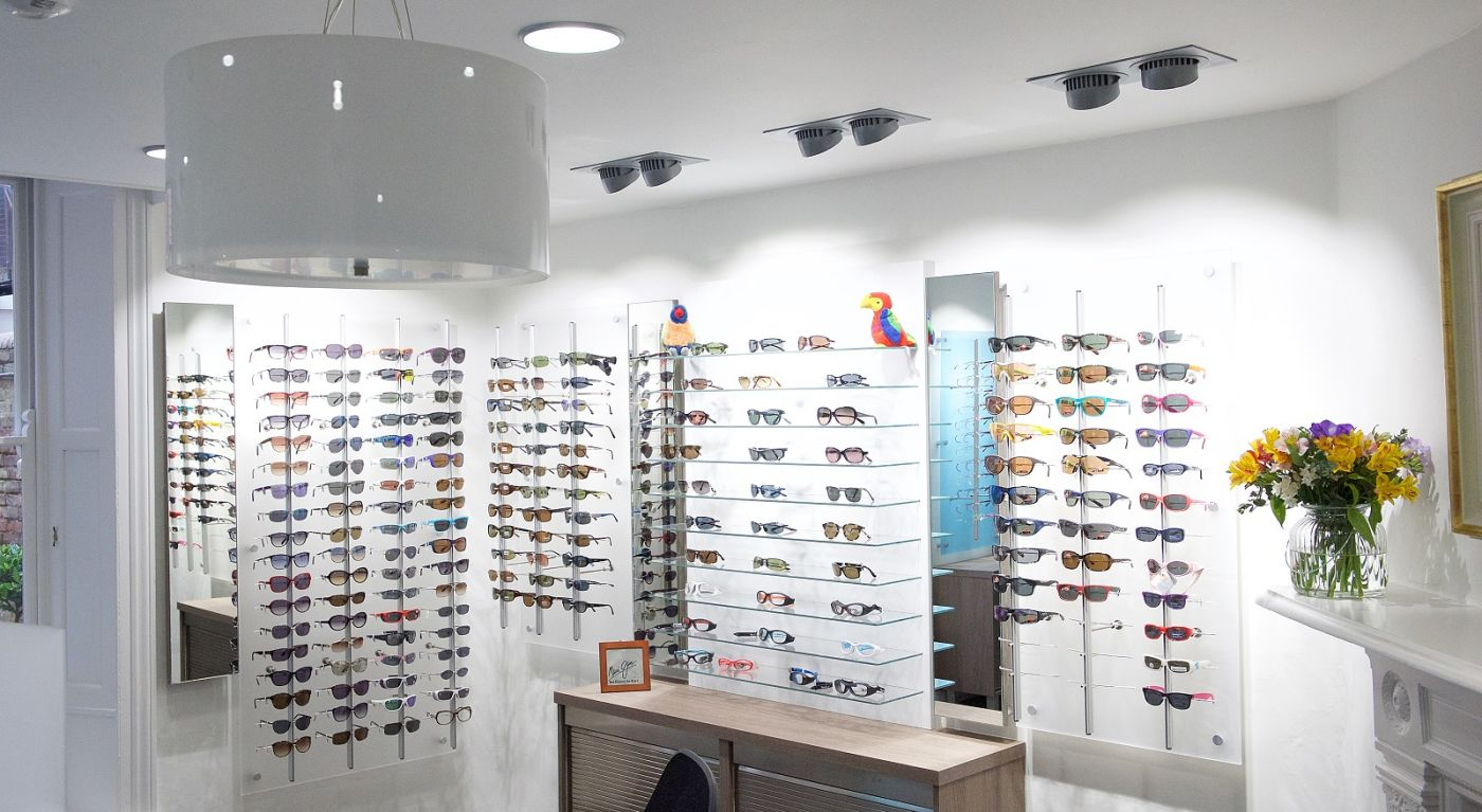 BBR Optometry glasses display