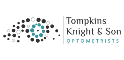 tompkins knight and son optometrists logo
