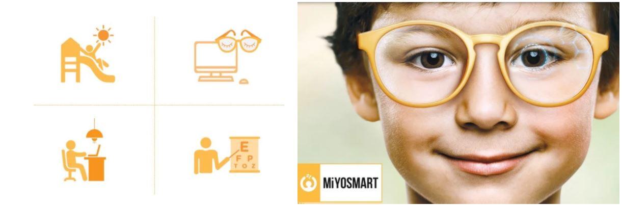 HOYA Corrective Lenses with young boy showing tech