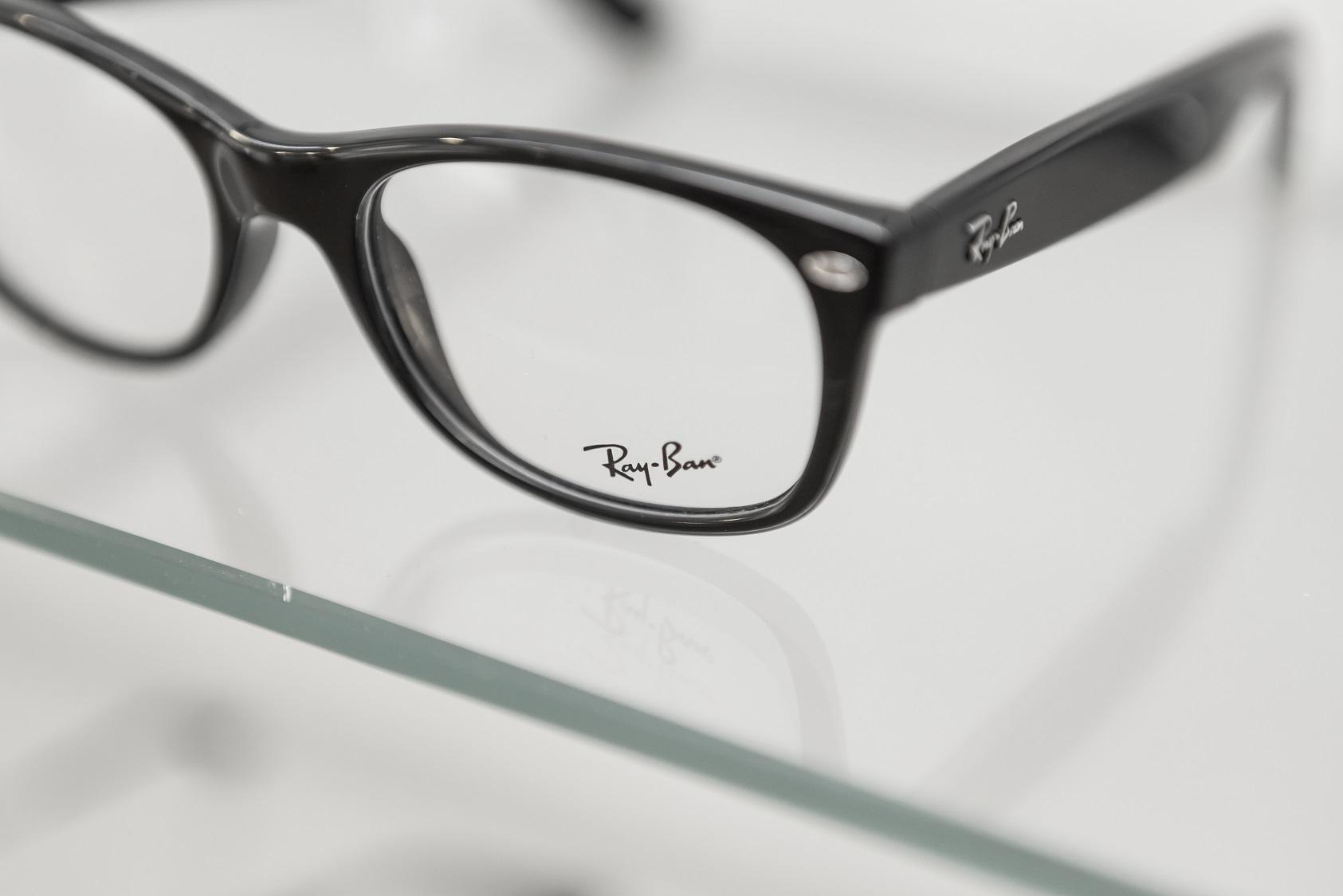 ray-ban frames on shelf leightons