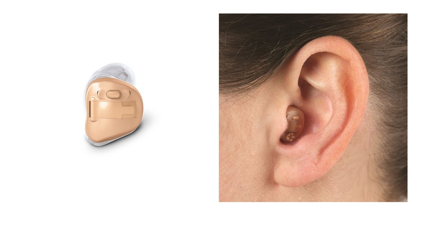 In the ear hearing aid device and in ear