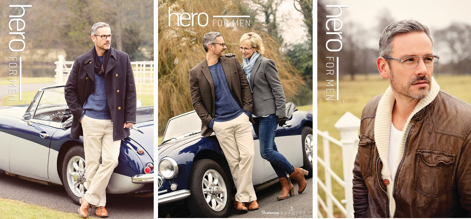 Hero for men eyewear collage