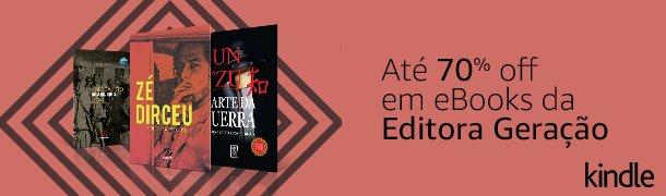Até 70% off em ebooks da Editora Geração