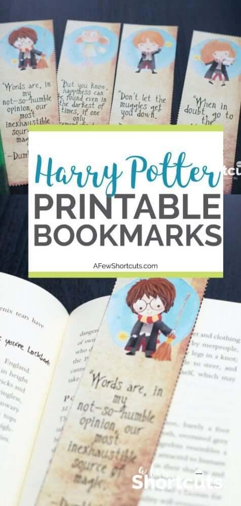 4 Marcadores De Pagina Do Harry Potter Para Imprimir Gratis