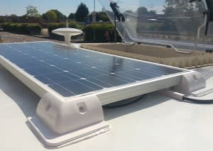 solar panel and skyroof