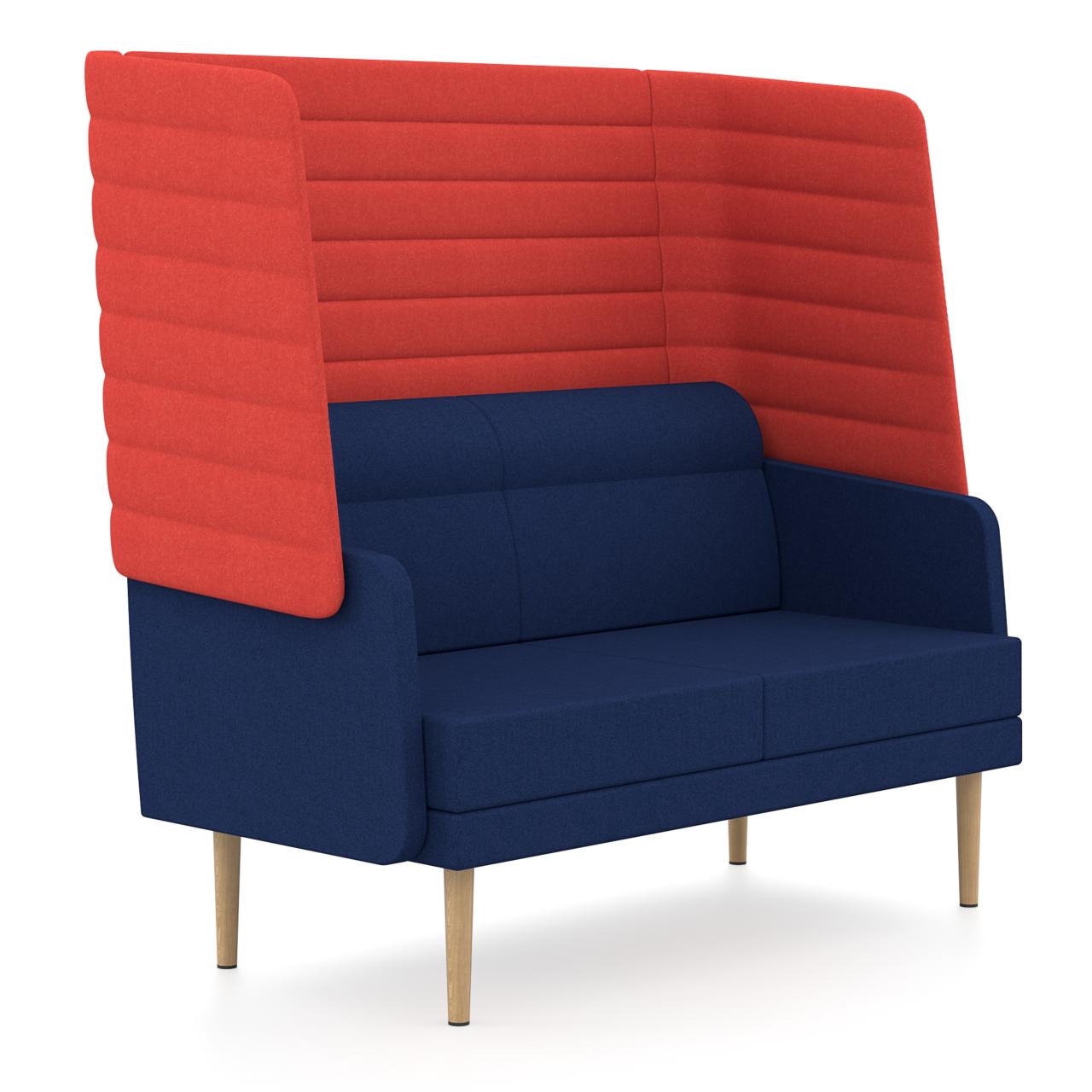 Zweisitzer Hendrik - Bequemes 2er-Sofa mit akustisch wirksamer Außenschale