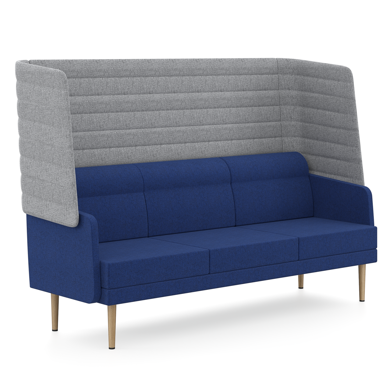 Dreisitzer Hendrik - Bequemes 3er-Sofa mit akustisch wirksamer Außenschale