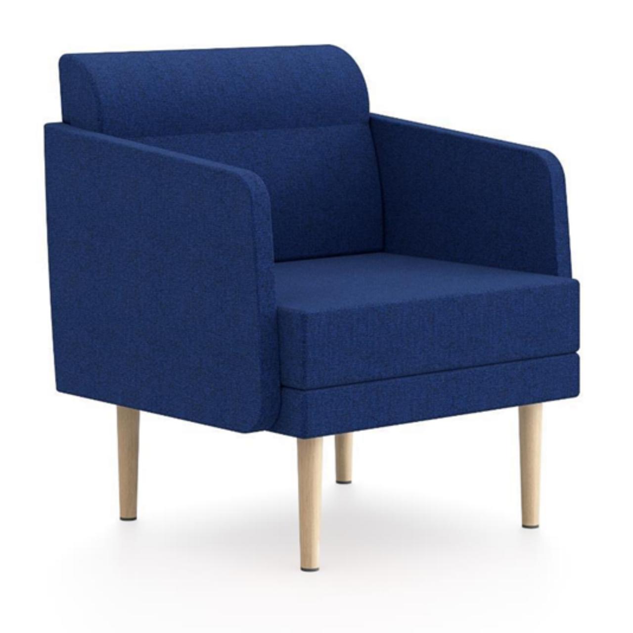 Einsitzer Hendrik - Bequemer Sessel für den Wartebereich oder zum Arbeiten im Open Space
