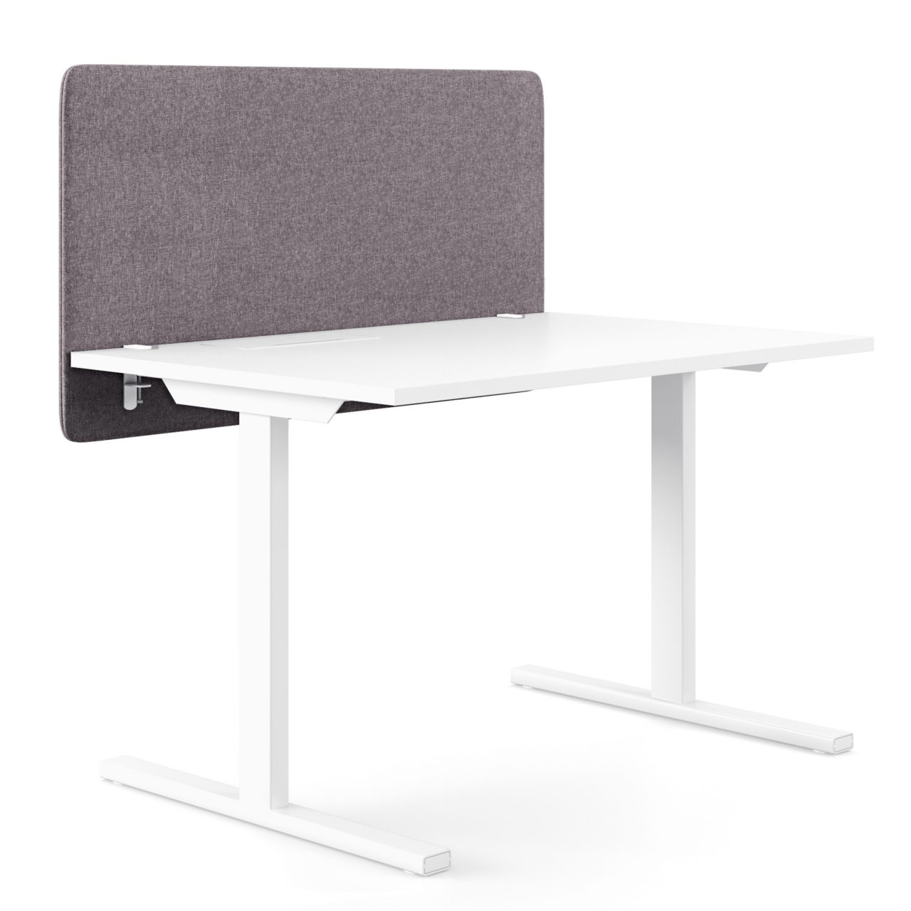 Tischtrennwand Levis bewertet mit Absorberklasse A sorgt für eine höchst effiziente Dämmung von Arbeitsgeräuschen. Die einfache Schraubmontage ist für diverse Tischplatten geeignet.