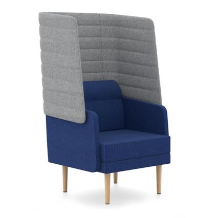 Einsitzer Hendrik - Bequemer Sessel mit akustisch wirksamer Außenschale
