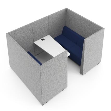 Silent-Box - Besprechungsinsel Linda - Ruhiger Rückzugsort für Meetings und vertrauliche Gespräche
