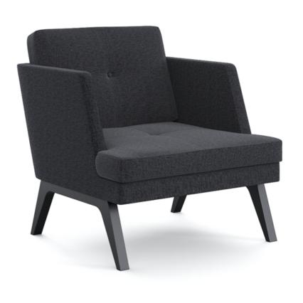 Einsitzer Loretta - Komfortabler & vielseitig einsetzbarer Sessel in schlichtem Design