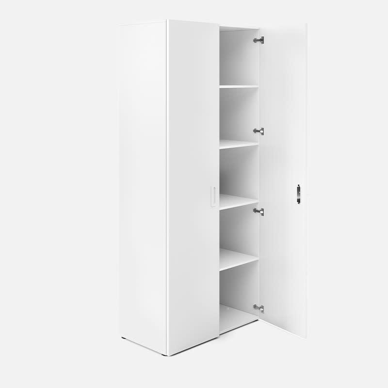 Aktenschrank Linnea mit Flügeltüren - Weiß clever mieten statt kaufen